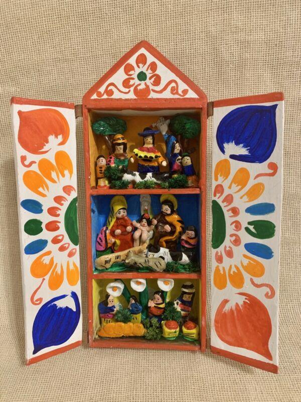 Retablo Nativity Scene.