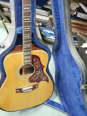Vintage Acoustic Guitar Yamaha (FG-300) Nippon Gakki  W/Case