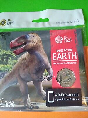 2020 Coloured Megalosaurus 50p in Royal Mint Pack.
