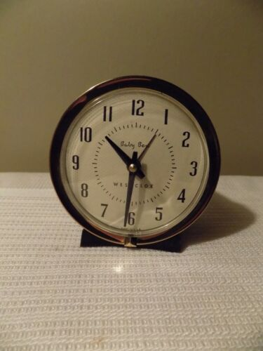 Vintage Westclox Baby Ben Wind Up Alarm Clock Style 7 1956-64 Mid Century