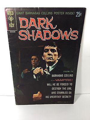 Dark Shadows, (Barnabas Collins) 30039, No.1,W/ Poster, Gold Key,1968, FN-VF+7.0