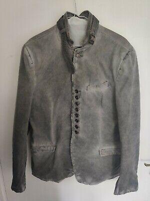 Bolongaro trevor jacket Military Grey Multi Button Size 44 John Varvatos Style