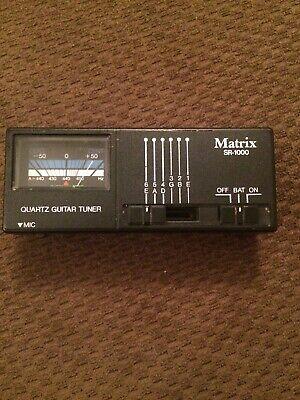 Matrix Quartz Guitar Tuner SR-1000 vintage works fine