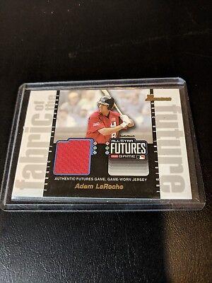 2003 Bowman Draft Fabric of the Future Jersey Relics Baseball #AL Adam LaRoche
