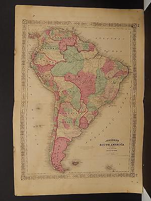 Johnson's Maps, 1864, South America O3#93