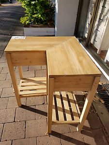Wrap around table corner table L-shaped clearance hardwood Kings Cross Inner Sydney Preview
