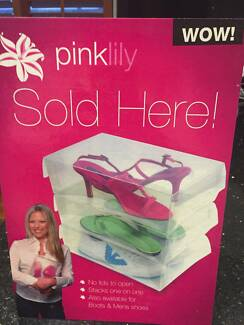 PINK LILLY  - SHOE STORAGE BOXES Dover Heights Eastern Suburbs Preview