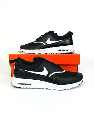 Nike Air Max Thea Womens Running Shoes Black White Sneakers