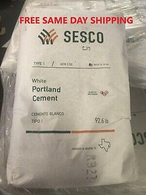 White Portland Cement Type 1 - 5 Lbs Bag. Sesco Brand With Egyptian Limestone