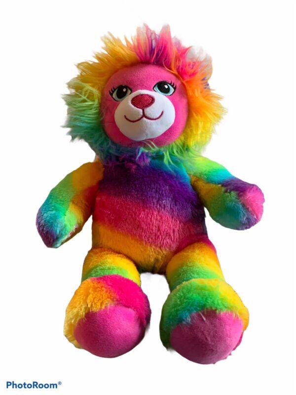 "Build A Bear BABW Lion Color Craze Rainbow 17"" Soft Plush Toy Stuffed Animal"