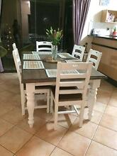 **AS NEW** DINING TABLE 6 CHAIRS  - White french provincial Alice Springs Alice Springs Area Preview