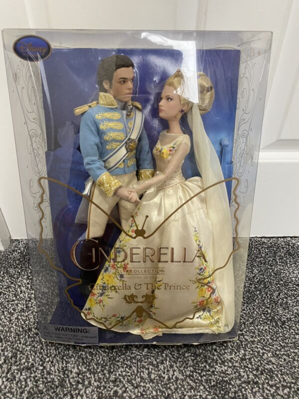 Disney Store Live Action Classic Cinderella And The Prince Dolls Set New In Box