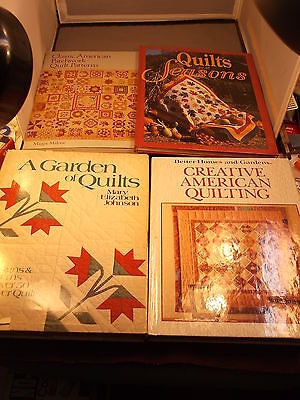 """LOT OF QUILTING BOOKS """"CLASSIC AMERICAN PATCHWORK PATTERNS"""" """"ALL SEASONS"""" MORE"""
