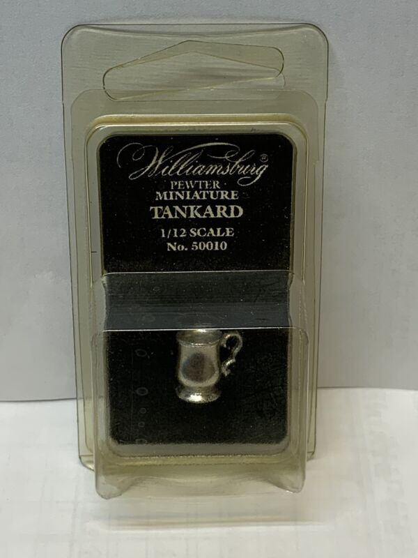 DOLLHOUSE MINIATURE 1:12 SCALE-COLONIAL WILLIAMSBURG  PEWTER TANKARD 50010