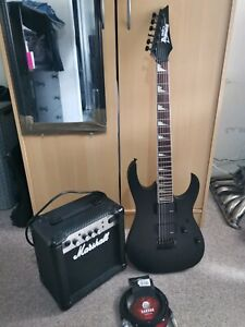 Ibanez RG-121DX Electric Guitar and Marshall Amp Amplifier