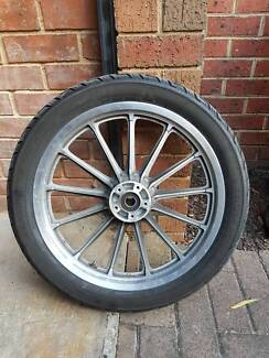 "19"" Cast rim wheel and tyre from 2008 Xl883 Harley Davidson"