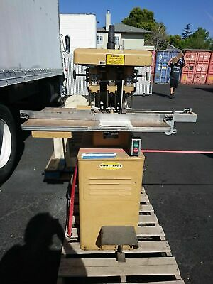 Challenge Eh-3a Heavy Duty Hydraulic Three 3 Hole Paper Drill Multi-spindle 1977