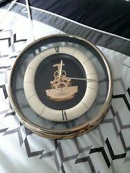 seiko exposed gears wall clock