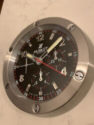 Hublot Big Bang Dealer Display Stainless Steel Wall Clock