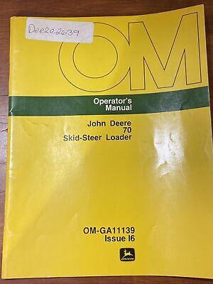 John Deere 70 Skid-steer Loder Operators Manual