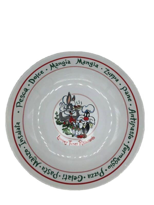 Vintage Warner Brothers Looney Tunes Ristorante Large Serving Bowl 1994 Mint