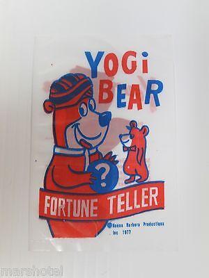 "YOGI BEAR & HUCKLEBERRY HOUND FORTUNE TELLER ""FISH"" HANNA BARBERA 1977 DEAL/12"