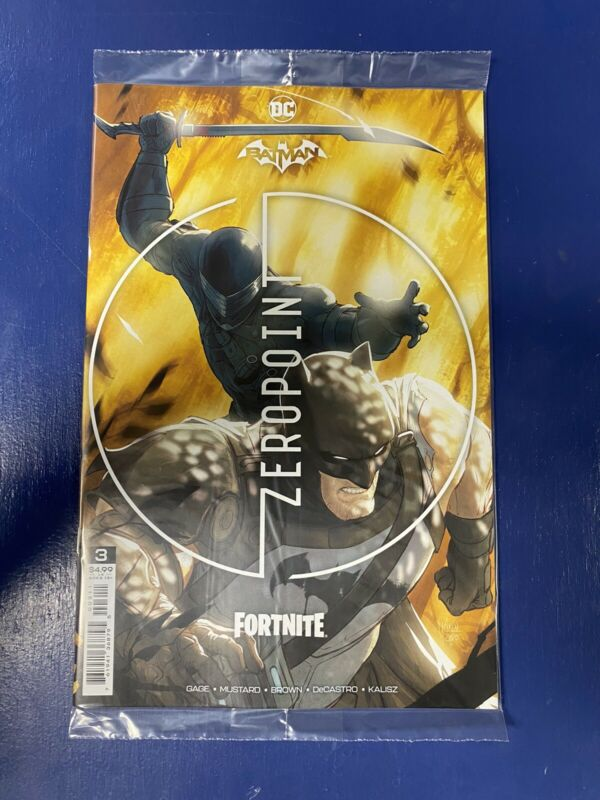 BATMAN FORTNITE ZERO POINT #3 CVR sealed With code.  DC COMICS SOLD OUT IN HAND!
