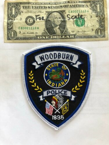Woodburn Indiana Police Patch Un-sewn great shape
