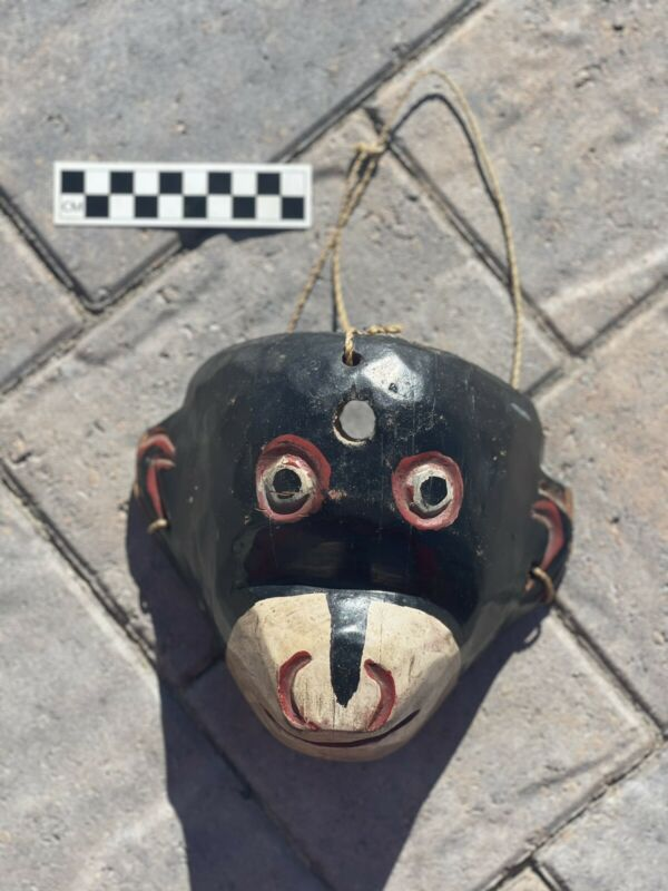 Antique Vintage Guatemalan Woodcarving Monkey Mask for Traditional Dance