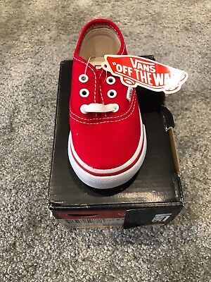 Kids Vans Classics Shoes Junior Size 6 Red