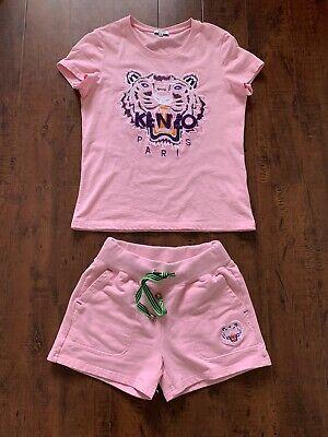 kenzo t shirt short suit pink size s