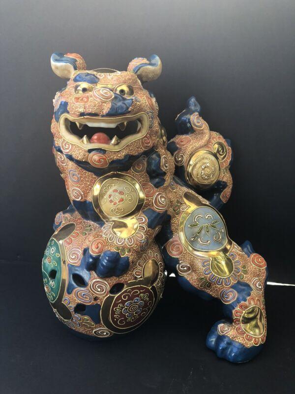 Japanese Kutani Porcelain Shi Shi Lion Dog