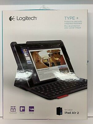 Logitech iPad Air 2 Type+ Protective Case Integrated Keyboard Black 920-006912