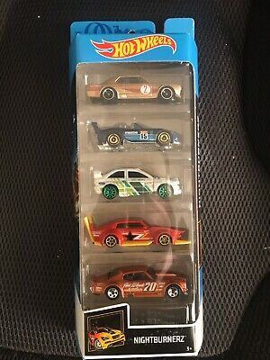 Hot Wheels 5 Pack Nightburnerz Car Set NEW Sealed Unopened Cars
