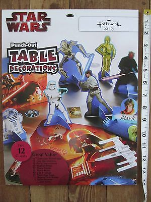 NEW Star Wars Punch Out Table Decorations 12 Guests Hallmark Birthday Party Lot ](Star Wars Table Decorations)