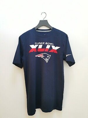 Nike New England Patriots Super Bowl XLIX Champions T Shirt Tee - Medium