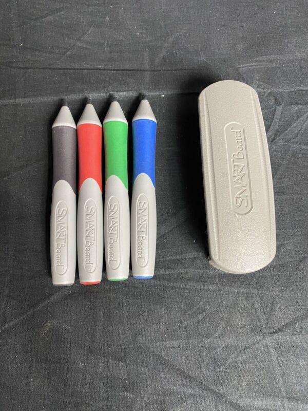 SmartBoard Stylus Marker Pens & Eraser (Red, Green, Blue, Black )