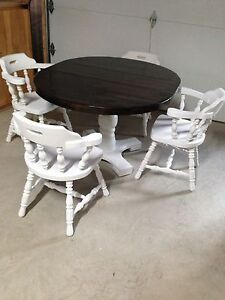 Gorgeous Antique Custom Finished Dining Table Set