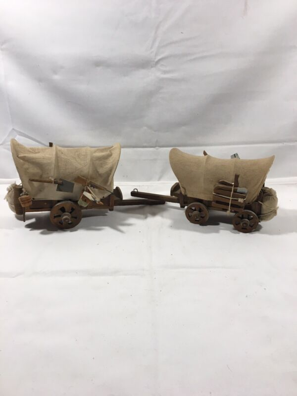 Vintage Handmade Wooden Covered Wagons
