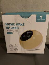 heimvision Music Wake Up Light, Sunrise Digital Alarm Clock with Snooze, A60C