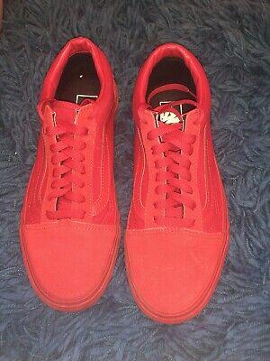 Vans Red Uk8