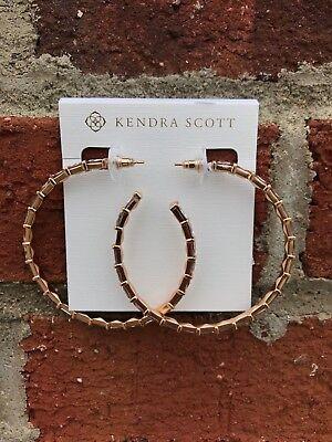 NWT Kendra Scott Thora Hoop Earrings in Rose Gold Blush Crystal