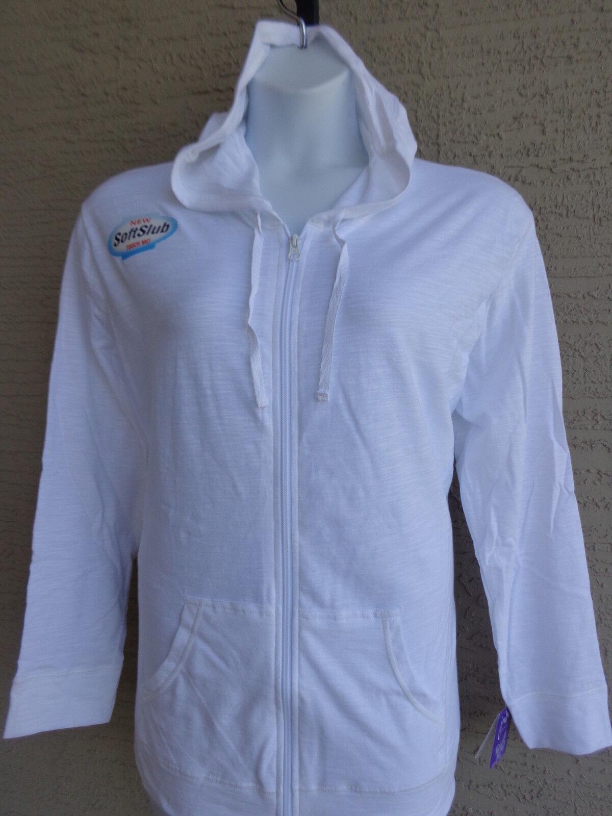 NWT Hanes Light Weight Slub Clotton Zip Up Hoddie Jacket XL