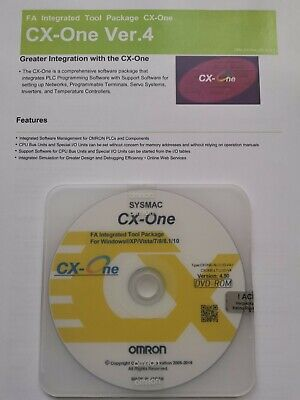 Omron Plc Programming Software Cx One V4.50 With Keycode Activation Updateable