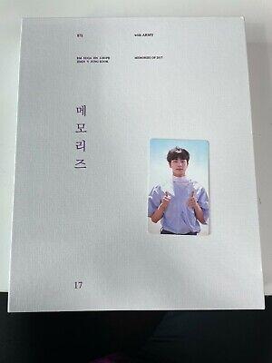 BTS Bangtan Boys Memories of 2017 DVD Set Opened with Jin Photo card