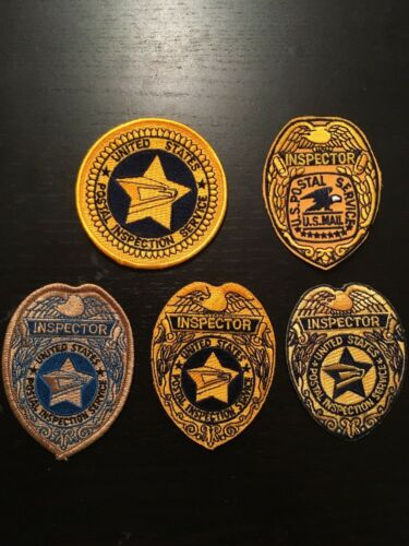 USPIS Inspection Service 5 patch lot Inspector seal star RARE FIND