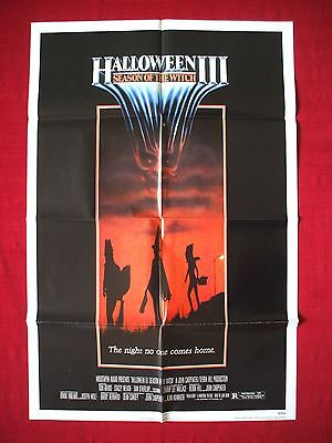 Halloween 3 Movie 1982 (HALLOWEEN 3 III * 1982 ORIGINAL MOVIE POSTER SEASON OF THE WITCH ULTRA RARE)
