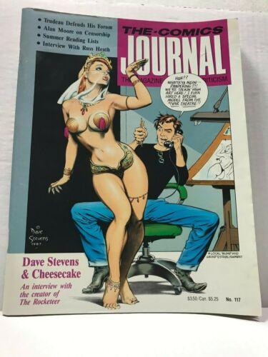 PRIMO:  The COMICS JOURNAL #117 - vhtf Dave STEVENS sexy cover art