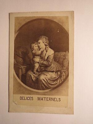 Delices Maternels - Mütterliche Freuden - Frau mit Kind / Kunstbild CDV