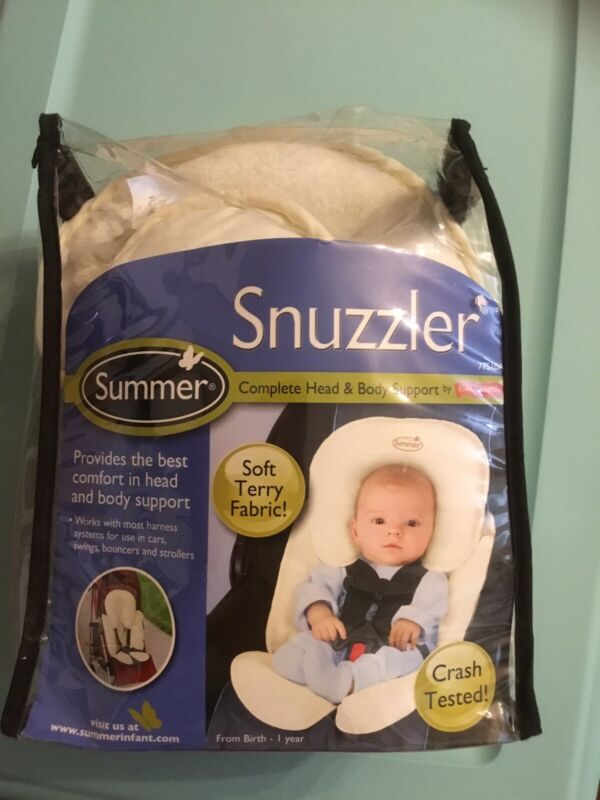 NEW Summer Infant Snuzzler Terry Fabric Head & Body Support For Car Seat